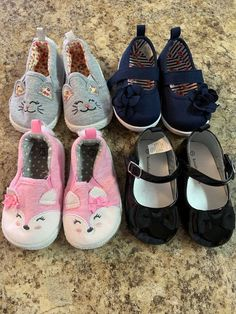 fccf4a1e218e6 Koala Kids Navy Blue Slip on Shoe w/Velcro adjust strap. Koala Baby Black  Patent-Like Shoe slip on w/velcro adjust strap. Nice lot of Baby Girl Shoes.
