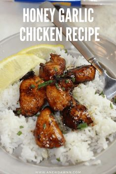 Ready in under 30 minutes, this Honey Garlic Chicken Recipe is a delicious and simple dish the whole family will love. Easy Honey Garlic Chicken, Garlic Chicken Recipes, Meat Recipes, Cooking Recipes, Chicken Meals, Cooking Ideas, Dinner Recipes, Fresh Garlic, Yum Yum Chicken
