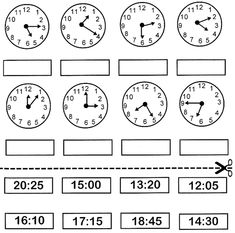 English Activities For Kids, Math For Kids, Kids Math Worksheets, Islamic Phrases, Homeschool Math, Telling Time, Math Lessons, Clock, Learning
