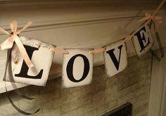Fiestas de compromiso: Fotos de ideas de decoración - Cadenetas decorativas para tu fiesta de compromiso