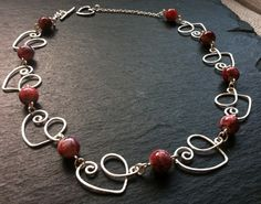 Heart on a Wire Necklace £12.00
