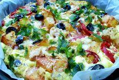 Retete Culinare - Omleta cu cartofi si ton ( la cuptor)