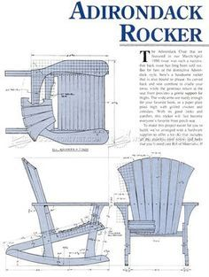 #1860 Adirondack Rocking Chair Plans - Outdoor Furniture Plans