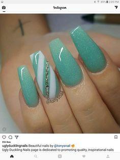 S fancy nails, pretty nails, gorgeous nails, cute nails, nails nai Fancy Nails, Trendy Nails, Love Nails, My Nails, Nails 2018, Prom Nails, Uñas Fashion, Nagellack Trends, Coffin Shape Nails