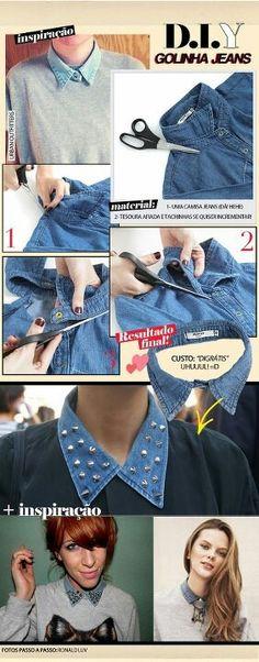 DIY denim collar