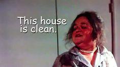 Tangina Barrons, Poltergeist 1982, film, movie, spirit medium, This house is clean, housework meme, 80s