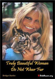 Brigitte bardot , love for animals .
