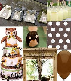 So many different color schemes can change the owl party through boy/girl, more natural or cute. So many ideas. This website had some color schemes already designed.