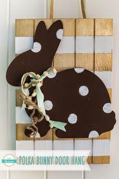 Polka Dot Bunny Door Hang - The Wood Connection Blog