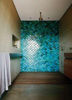 Fishscale tiles