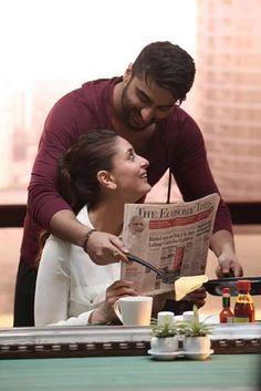 "On the sets! The first look of Arjun Kapoor and Kareena Kapoor's upcoming movie ""Ki and Ka""."