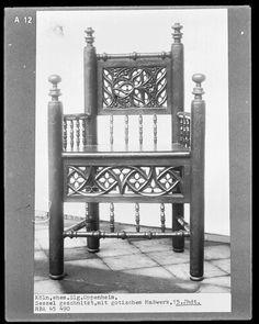 Sessel mit gotischem Maßwerk | Bildindex der Kunst & Architektur - Bildindex der Kunst & Architektur - Startseite Bildindex