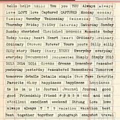Printshop Tiny Word Stickers