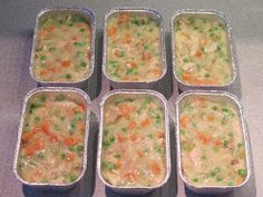 Day 7 Make-Ahead Mini Chicken Pot Pies. Actually, I just have the mixture done and will freeze that. But for me that's the most time consuming part.