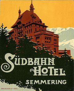 Sigmund Freud, Travel Ads, Travel And Tourism, Vintage Luggage, Vintage Travel Posters, State Image, Hotel Logo, Tourism Poster, Vintage Hotels