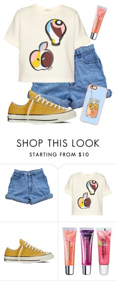 """""""Untitled #319"""" by natsuforyou ❤ liked on Polyvore featuring Bill Blass, Fendi, Converse, Maybelline and Casetify"""