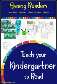 Teach your Kindergartner to read with Fun lessons, games, engaging books, activities and worksheets #Beginningreading #PhonemicAwareness