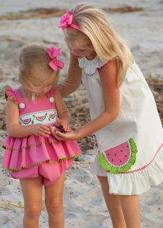 Shrimp and Grits Kids Smocked Watermelon Bubble Shrimp And Grits Kids, Preppy Kids, Pink Summer, Summer Vibes, Future Baby, Baby Love, Cute Kids, Color Splash, Smocking