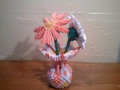3d origami big parrot zuknftige projekte pinterest d 3d and how to make 3d origami small vase updated youtube mightylinksfo
