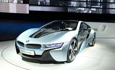 BMW with glass doors & laser lights