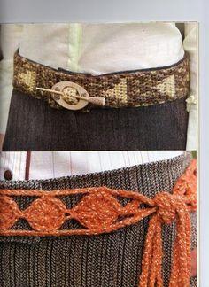 Materiales gráficos Gaby: Cinturones y bandanas en crochet
