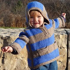 Keep your child warm during the winter months with the Idaho baby pullover. This hooded sweater pattern is available in five different sizes.