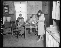 Children of coal miner at Scott's Run, West Virginia. 1935. Library of Congress.