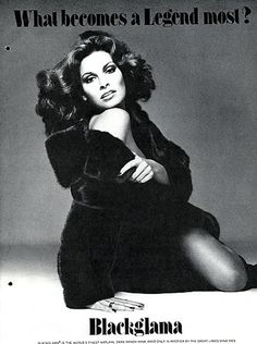 "Raquel Welch - Blackglama Mink ""What Becomes A Legend Most?"" Ad Campaign (1976)......Uploaded By www.1stand2ndtimearound.etsy.com"
