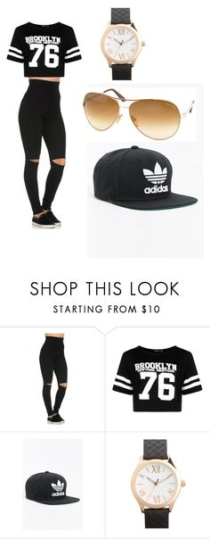 """""""Untitled #20"""" by toyaboswell on Polyvore featuring Boohoo, adidas, Topshop and Tom Ford"""