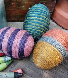 Yarn Wrapped Eggs