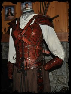 archer female leather armor by ~Lagueuse on deviantART