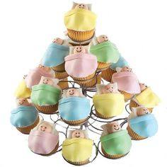 Cupcakes for a baby shower!