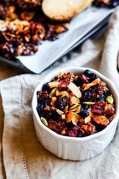 Toasted Coconut and Berry Grain Free Granola {Vegan, Paleo} | Cotter Crunch | Bloglovin'