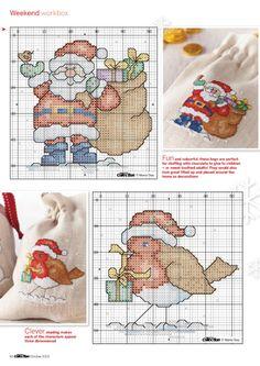 Christmas motifs part 1 free cross stitch patterns