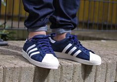 "Adidas Superstar 80s ""Core Navy"""