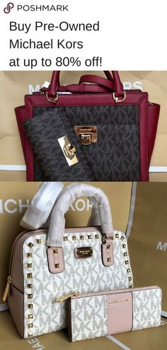Get Michael Kors designer handbags & wallets for cheap on Poshmark. Download the app to find your perfect purse. Tote Handbags, Purses And Handbags, Fashion Bags, Fashion Accessories, Michael Kors Designer, Cute Purses, Cute Bags, Luxury Bags, My Bags