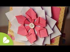 ▶ Flor Decorativa FACIL // Scrapbook & Origami - YouTube