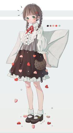 The litter baby Chibi Kawaii, Loli Kawaii, Cute Chibi, Kawaii Art, Anime Girl Cute, Kawaii Anime Girl, Anime Art Girl, Manga Girl, Manga Anime