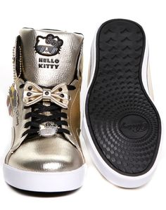 NYC Sweet Crime Mid Top - Hello Kitty X Pastry - Gold - Official Pastry Shoes by Vanessa and Angela Simmons.