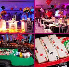 Casino theme parties, holiday party themes, birthday parties, room d. Tema Las Vegas, Las Vegas Party, Casino Night Party, Casino Party Decorations, Casino Theme Parties, Party Themes, Party Ideas, Themed Parties, Room Decorations