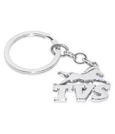 8564c32ee TVS Logo Full Metal Key Chain (Silver)  Buy Online at Low Price in