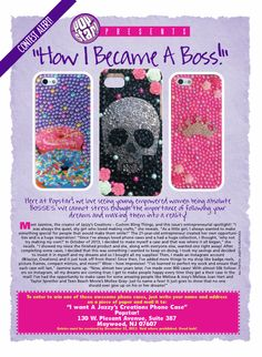 My interview on how I became a boss and started my business in the November/December issue of PopStar