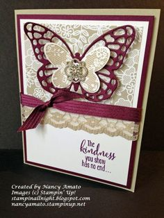 Stampin' All Night: Beautiful Butterfly Card