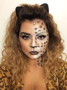 Leopard makeup, leopard costume for this year.