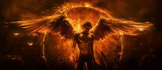angel of fire burning with desire