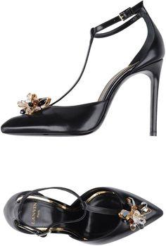 Lanvin Women Pump on YOOX. The best online selection of Pumps Lanvin. YOOX exclusive items of Italian and international designers - Secure payments Women's Pumps, Heels, T Strap, Lanvin, Stuart Weitzman, Footwear, Sandals, Fashion, Heel