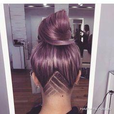 Chevron detail for long hair.  Love this!!!