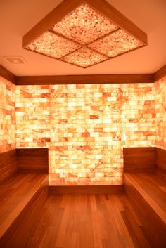 PALM Health - Ladue - St. Louis - Ionized Himalayan Salt Therapy Room lets patients breath in negative ions to help with sinus, lung, or skin problems in a beautiful setting