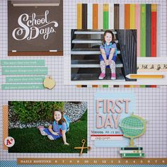 #papercraft #scrapbook #layout. Holly & Company: Playing Catch Up October Afternoon Daily Flash - Milk Money