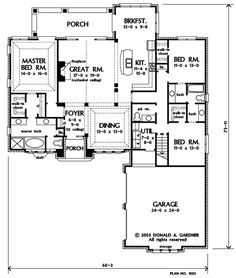 The Meyerswood (Southern Living) House Plans First Floor Plan ...